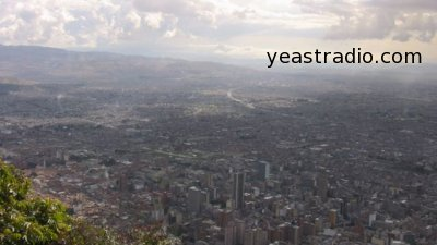 Bogota Colombia as seen from Montserrate