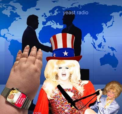 yr1226web lady bunny and the the trans pacific partnership or TPP with Madge weinstein on yeast radio